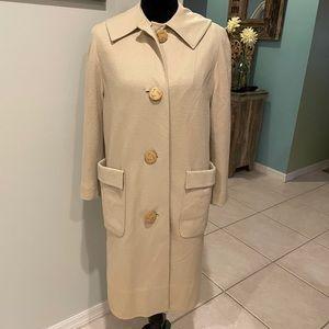 Vintage Betty Rose Mid Century Beige Tan Coat